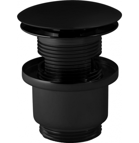 korek KOCZ click-clack okrągły czarny