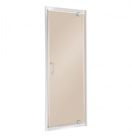drzwi wnękowe szklane Unika 80 B (brąz)