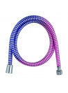 Wąż natryskowy WN MULTI 150 PCV nieb./róż-chrom