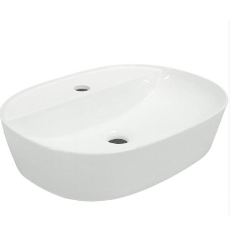 Umywalka nablatowa KR-860 biała półmatowa
