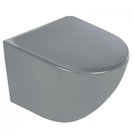 Miska podwieszana DELOS szara półmatowa z deską