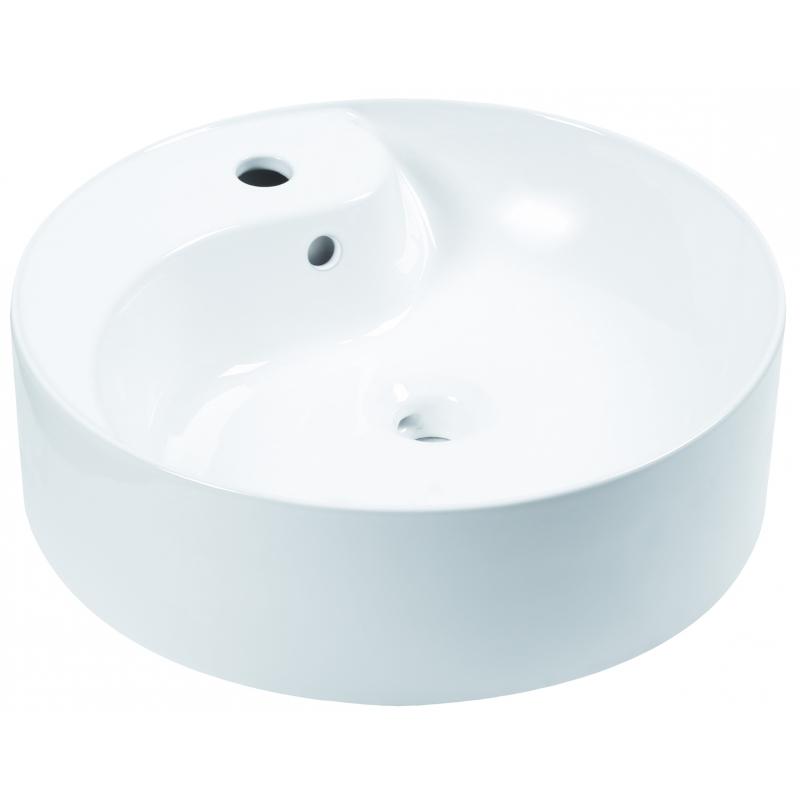 Umywalka nablatowa KR-09 (fi 46,bi.poł.)