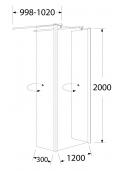 Ścianka EASY IN BK254T12 120x200cm