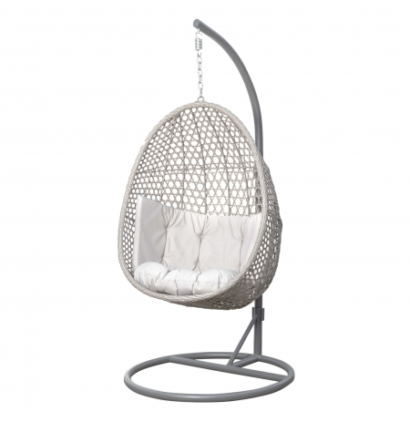 Fotel ogrodowy wiszący Alanis light grey