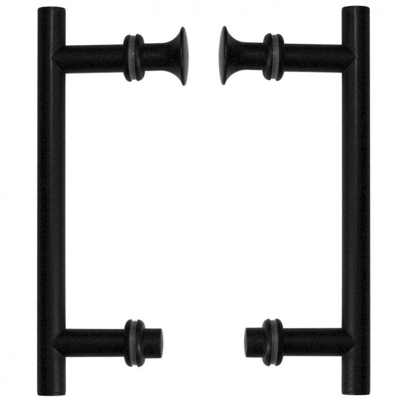 Uchwyty drzwi UK-01 BL (do kabin, czarne)