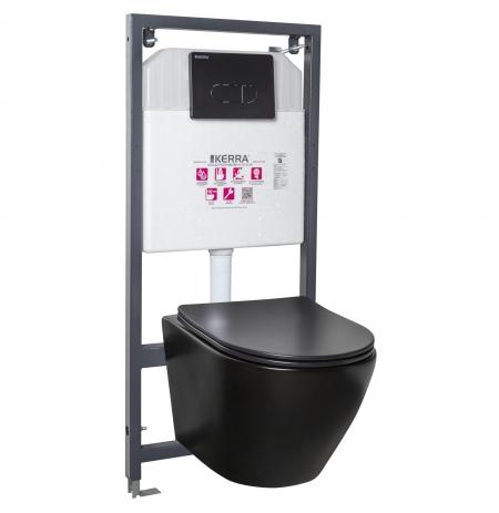 Zestaw podtynkowy WC Delos BLM/Pacific Black