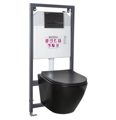 Zestaw podtynkowy WC Delos BLM/Adriatic Black