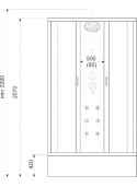 Kabina Liveno White 90x90cm