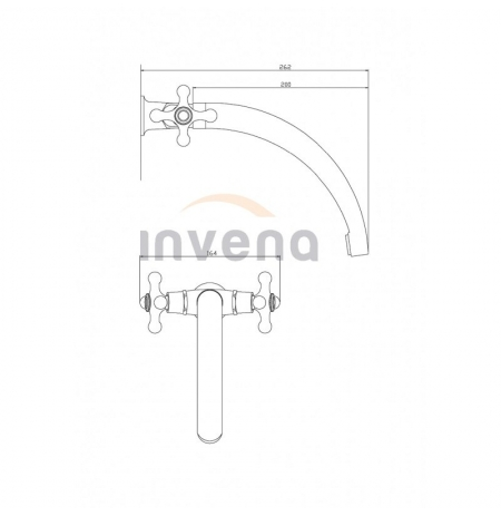 Bateria umywalkowa Invena Roma