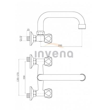 Bateria umywalkowa Invena Modena