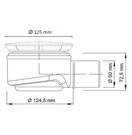 Syfon brodzikowy Akces Speed Fi90 - do płytkich brodzików